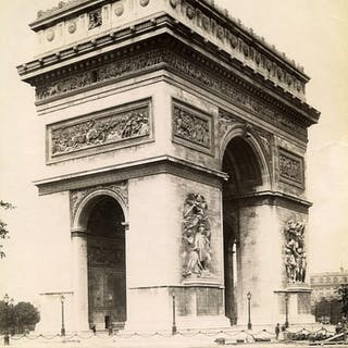 France Paris Arc de Triomphe de l'Etoile old Photo LP...