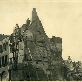 Belgium WWII Tournai Destruction old Photo 1945 Anonymous Belgium,Cities