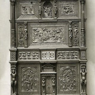 Switzerland Basel Museum interior Carved Wood Furniture...