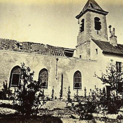 Siege of Paris Commune Ruins Drancy Church Old Liebert Photo 1870 G