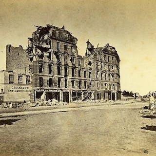 Siege of Paris Commune Ruins Neuilly avenue du Roule Old Liebert Photo 1870 G