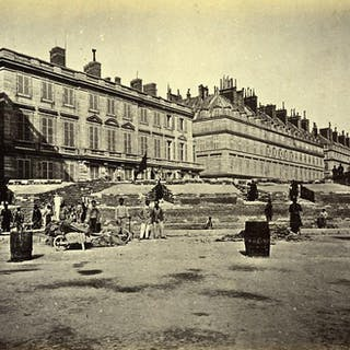 Commune de Paris Ruins Barricade des Federes Concorde Old Liebert Photo 1871 G