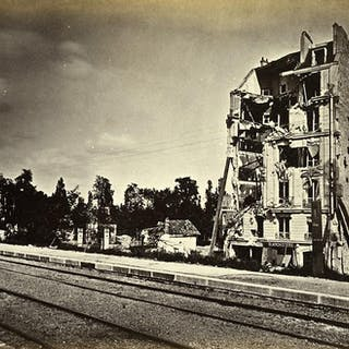 Siege of Paris Commune Ruins Auteuil Villa Montmorency Old Liebert Photo 1871 G