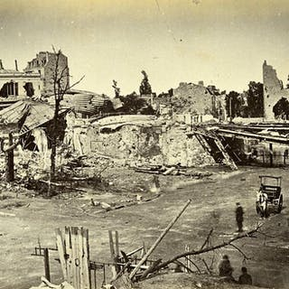 Siege of Paris Commune Ruins Auteuil general view Old Liebert Photo 1871 G