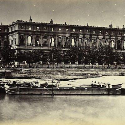 Siege of Paris Commune Ruins Conseil d'Etat Exterior Old Liebert Photo 1871 G