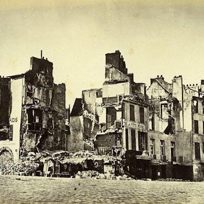 Siege of Paris Commune Ruins Saint Cloud Hotel la Tete...