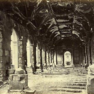 Siege of Paris Commune Ruins Conseil d'Etat Interior Old Liebert Photo 1871 G