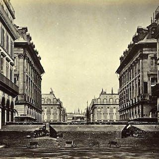 Commune de Paris Barricade des Federes rue Castiglione Old Liebert Photo 1871 G
