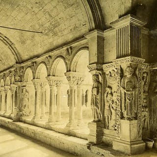 France Arles Cloister & Roman Amphitheatre Old Photo 1890...