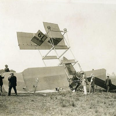 France Betheny Aviation Louis Breguet Accident Old Branger Photo August 1909 M