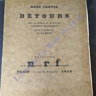 Détours. CREVEL René René Crevel ; Poésie ; Littérature française