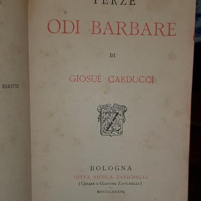 Terze odi barbare Carducci, Giosué