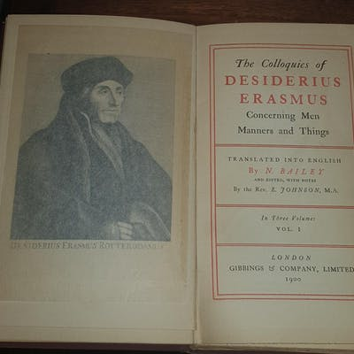 Colloquies Of Desiderius Erasmus concerning Men Manners...