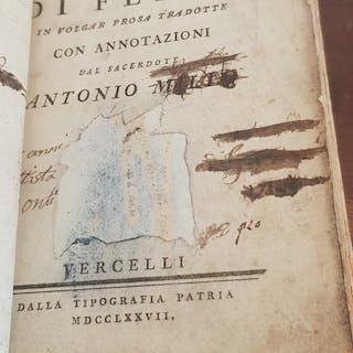 Le Favore di Fedro volgarizzate dal sacerdote Antonio Millio Fedro