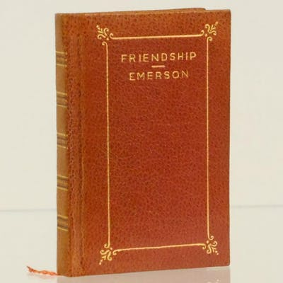 Friendship Emerson, Ralph Waldo Classic Literature,Miniature Books