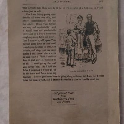 Adventures of Huckleberry Finn; page 283 facsimile Twain
