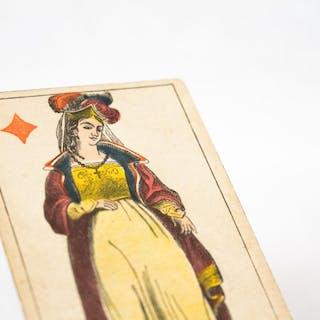 Carte à jouer érotique à secret - Dame de carreau ANONYME...