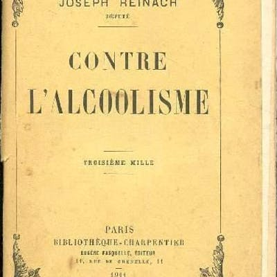 Contre l'alcoolisme Reinach Joseph TECHNIQUE (SCIENCES APPLIQUEES)