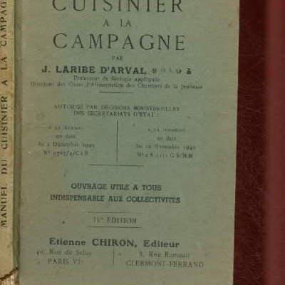 Manuel du cuisinier militaire en campagne Laribe J. Mammifères