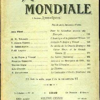 La Revue Mondiale n° 20 - Pour la grandeur morale des français par Jean Finot