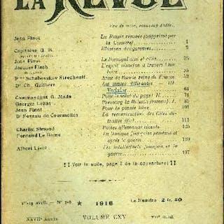 La Revue n° 7-8 - La Russie rénovée (supprimé par la Censure) par Jean Finot