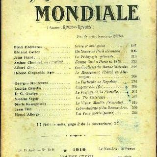 La Revue Mondiale n° 15-16 - Grève et anti grève par Henri d'Almeras
