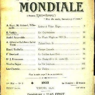 La Revue Mondiale n° 9 - Lettres a Victor Hugo par A