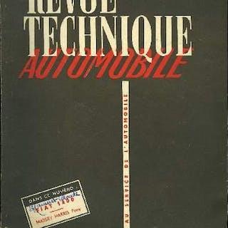 REVUE TECHNIQUE AUTOMOBILE N° 81 - L'année 1953