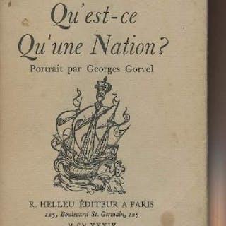 Qu'est-ce qu'une Nation ? Renan Ernest GENERALITES
