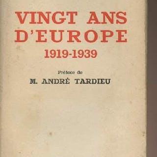 Vingt ans d'Europe 1919-1939 D'Ydewalle Charles GEOGRAPHIE