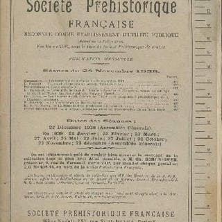 Bulletin de la société préhistorique française - T