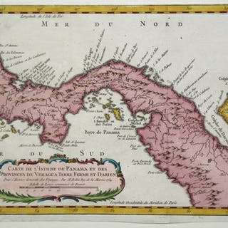 Carte de l'Isthme de Panama et des Provinces de Veragua Terre Ferme et Darien