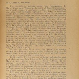 Sur MARX tirés à part de la Revue Socialiste Maximilien...