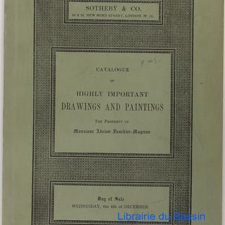 Catalogue of highly important drawings and paintings The...