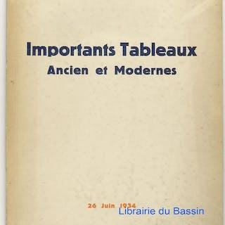 Importants Tableaux Ancien et Modernes Aquarelle Pastel...