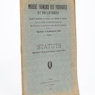 Statuts. Société du Marché Français des Fourrures et Pelleteries