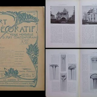 L'ART DECORATIF n°47 - AOUT 1902 - VILLA MAJORELLE NANCY