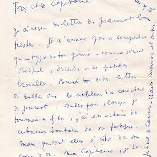 Lettre autographe signée Jean Cocteau (1889-1963)