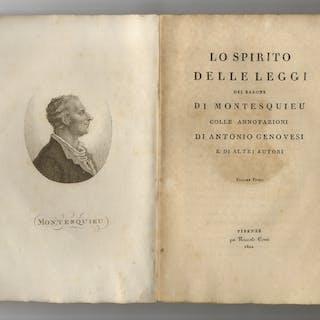 Spirito delle leggi del Barone di Montesquieu colle...