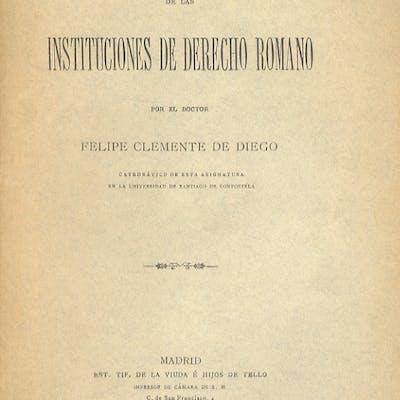 Introducción al estudio de las instituciones de derecho romano