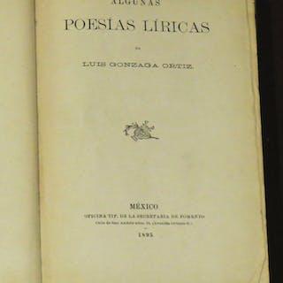 Algunas Poesías Líricas Gonzaga Ortíz, Luis Literatura Mexicana