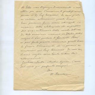 BARAZZONI Nino (Bibbiano 1870 - 1936)   Storia