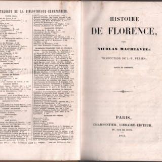Histoire de florence / traduction de JV Périès Machiavel Nicolas livre ancien