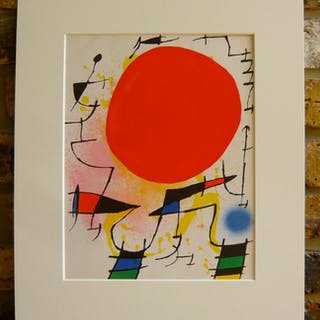 Joan Miro Original Lithograph 1972: For Miro Litografo I