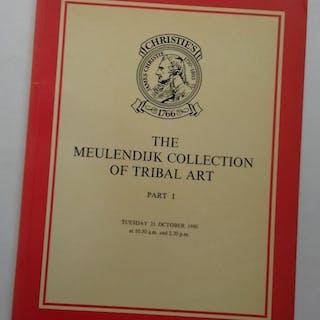 THE MEULENDIJK COLLECTION OF TRIBAL ART. Part 1. Auction catalogue.: Africa