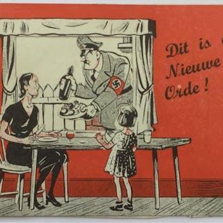 Dit is de Nieuwe Orde. Britische Propaganda. - Pop-up Karte. Propaganda