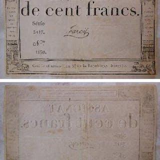 ASSIGNAT DE CENT FRANCS