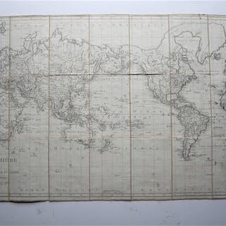 Planisphere ou Carte Générale du Globe par J.B.Poirson...