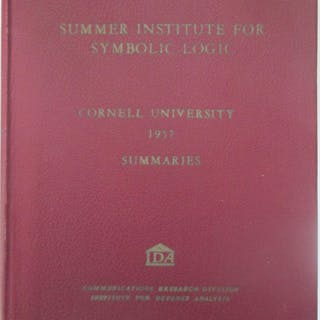 Summaries of Talks presented at the Summer Institute for Symbolic Logic
