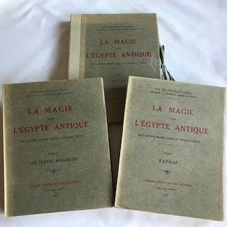 La magie dans l'Egypte antique. Tome I, II & III (complete set) LEXA Frantisek